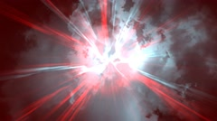 Animated pulse flight through hell Stock Footage