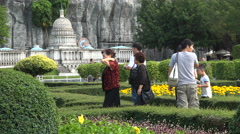 Miniature Capital Hill in Washington, theme park in Shenzhen, China Stock Footage