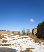 Ruins  of Krevo, Belarus. Stock Photos