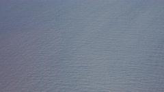 Flying Airplane Window Water Ocean V-LOG Stock Footage