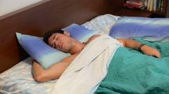 Young Man Sleeping, Having Nightmares Arkistovideo
