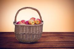 Composite image of basket of apples Stock Illustration