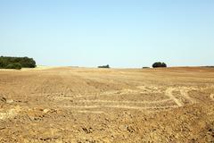 Plowed land, summer Stock Photos