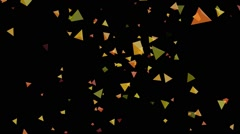Motion footage  with colotful transformation polygons on black background - stock footage