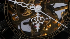 Working watch mechanism. Close up Stock Footage
