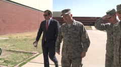 Ted Cruz visits to Goodfellow Air Force Base, Texas 2 - stock footage