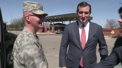 Ted Cruz visits to Goodfellow Air Force Base, Texas 6 Stock Footage