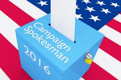 Campaign Spokesman 2016 election concept - stock illustration
