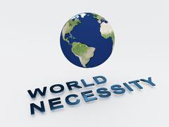 World Necessity Concept Stock Illustration
