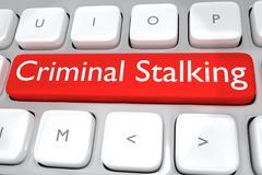 Criminal Stalking concept Stock Illustration