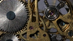 Inside a clock. Close up Stock Footage