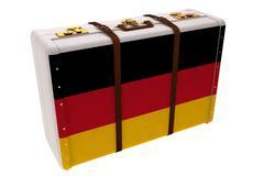 German flag suitcase - stock illustration