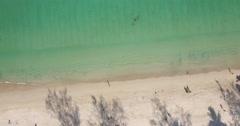 Rising aerial birds eye - patong beach Stock Footage