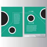 Creative green annual report Leaflet Brochure Flyer template A4 size Stock Illustration