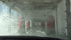 Car going through an automatic car wash Arkistovideo