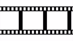 Film Strip Black and White Video Footage Stock Footage