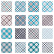 Plaid Patterns Collection Stock Illustration
