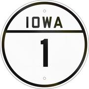 Historic Iowa Route shield from 1926 used in the United States Piirros