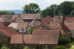 rooftops of an baverian oldtown - stock photo