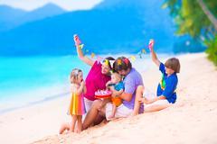 Birthday party at a beach Kuvituskuvat