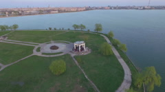 The shore of the lake in Bucharest, Romania Stock Footage