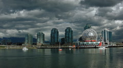 Vancouver Science World Cloudy Stock Footage