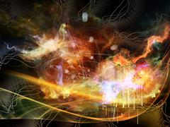 Glow of Abstract Visualization Stock Illustration