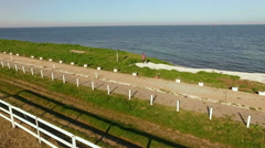 Seashore from the sky in Vama Veche, Romania Stock Footage