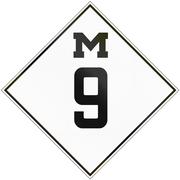 Historic Michigan Route shield from 1926 used in the United States Stock Illustration