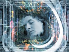 Acceleration of Thinking Stock Illustration