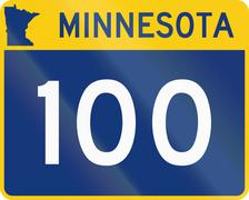 Minnesota State Highway route marker used in the US Stock Illustration