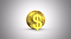 World Currencies Rotate Around the Earth Stock Footage