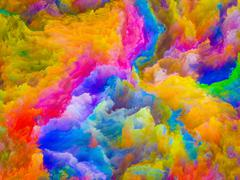 Acceleration of Colors Stock Illustration
