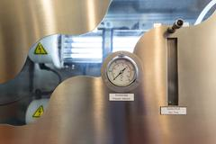 Pressure indicator and Gas flow measuring Stock Photos