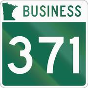 Minnesota State Highway business route marker used in the US Stock Illustration