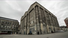 Old factory building time lapse Stock Footage