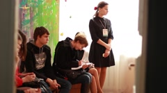 Students in a seminar - stock footage