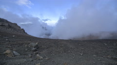 4k, Clouds drifting through volcanic mountain range time lapse, Haleakala, Maui, - stock footage