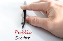 Public sector text concept - stock photo