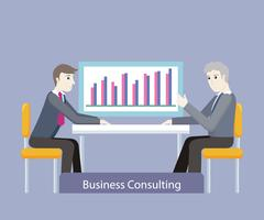 Business Consulting. People on Negotiations Stock Illustration