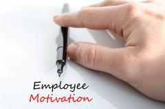 Employee motivation text concept - stock photo