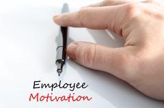 Employee motivation text concept Stock Photos
