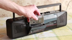Old  tape recorder Stock Footage