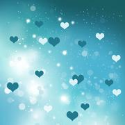 Love and romance - stock illustration