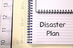 Disaster plan text concept - stock photo