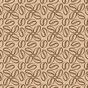 Coffee beans seamless Stock Illustration