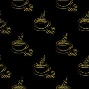coffee cup seamless - stock illustration