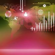 Global technologies Stock Illustration