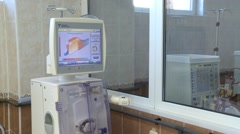 The hemodialysis machine Stock Footage