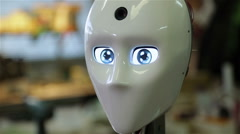 Robot rebooted and saw the world Stock Footage